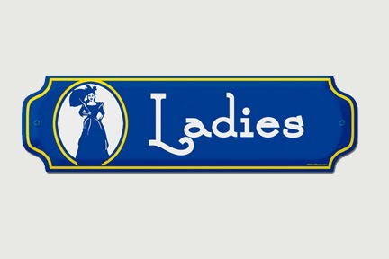 Navyblueshoe vintage bathroom signs for Ladies bathroom sign