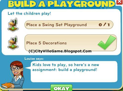 Zynga game cityville mission build a playground