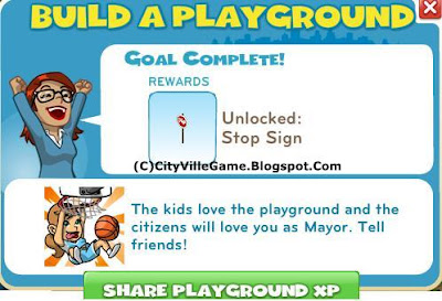 Zynga game cityville mission build a playground finnished picture