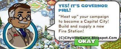 zynga cityville game: pictures of a fire station of the game.