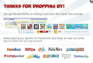 login page of zynga rewardville