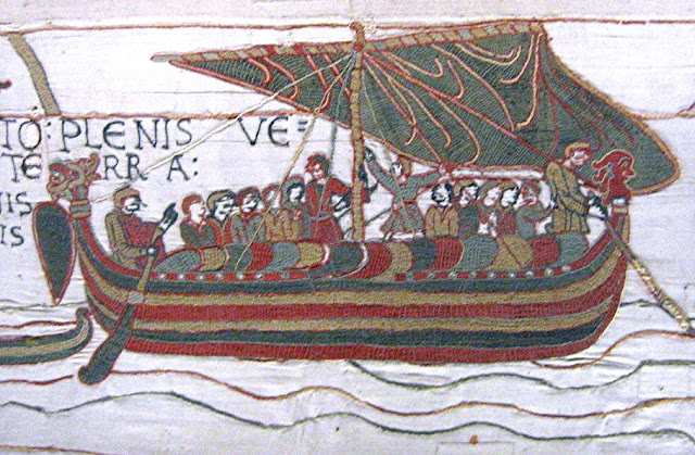 Tapiz de Bayeux. La Batalla de Hastings.