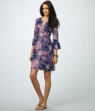 Lilly Pulitzer Silk Dress Lobster And Crab Design