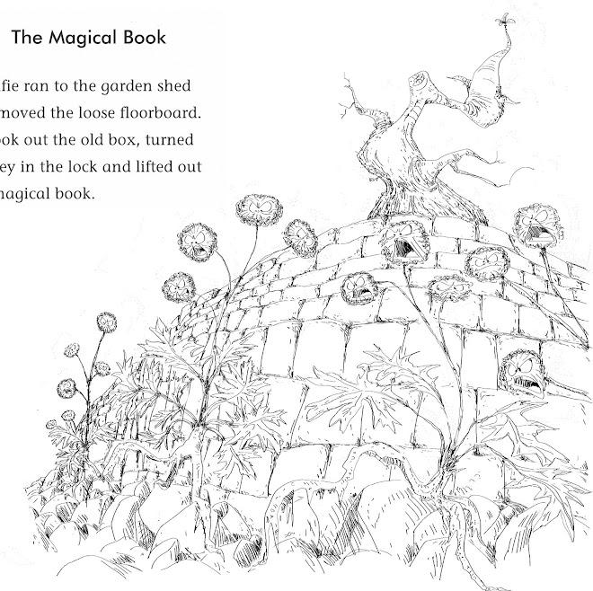 Alfie Green samp book illustrations