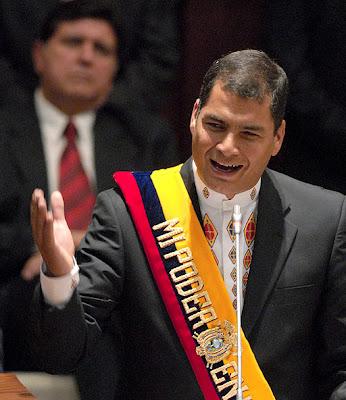 Juramentación de Rafael Correa