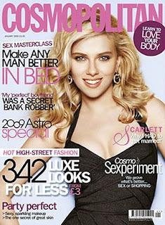 Scarlett Johansson en la portada de Cosmopolitan