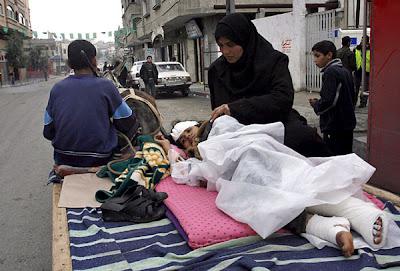 Niña herida en Gaza