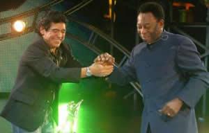 Pelé y Maradona en show de TV