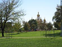 Église urkrainienne depuis le parc Patterson