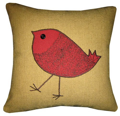 Textile and Decor: Another fun pillow with bird design