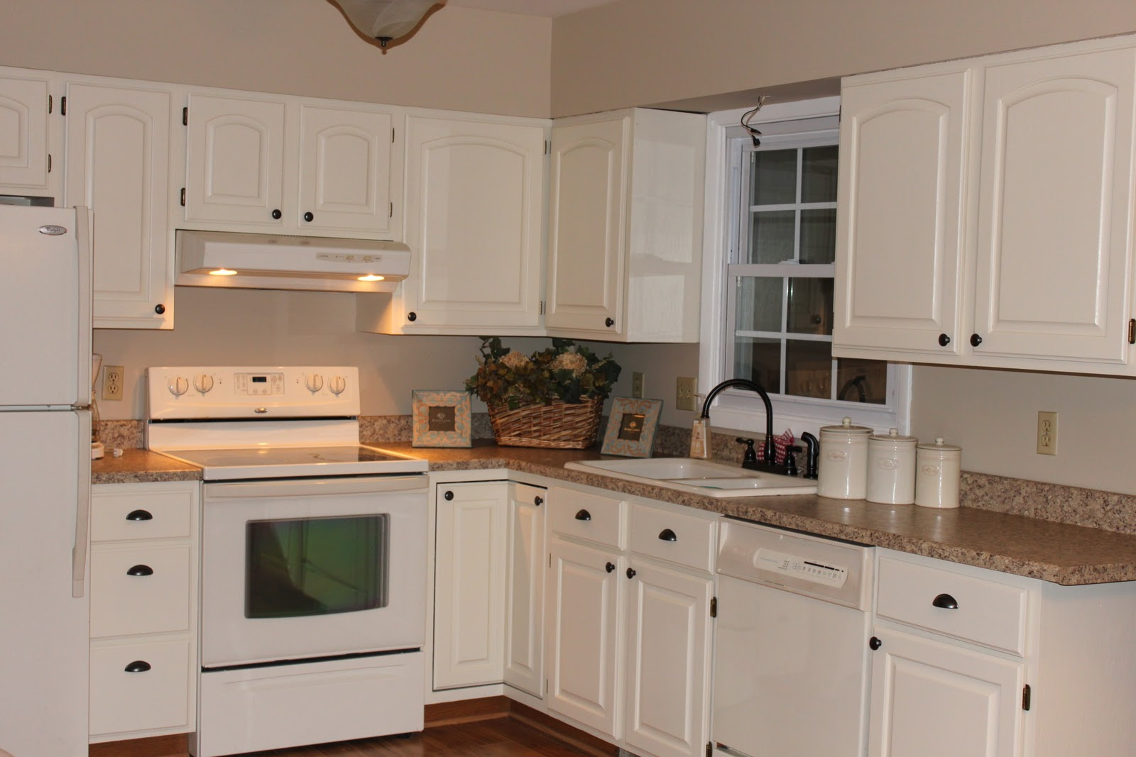 Blue or cream help love of family home - How to glaze kitchen cabinets cream ...