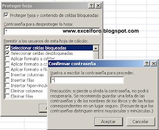 Proteger hoja en Excel.