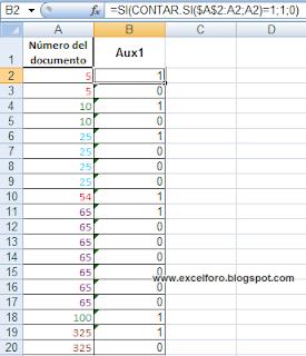Asignar una numeración ordinal a una lista de valores II.
