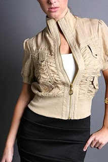 Gold Zip Jacket