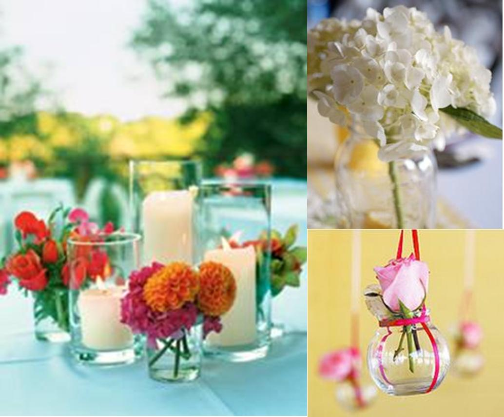 Small centerpieces ideas with vases of flowers best