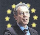 Tony Blair with halo of EU stars