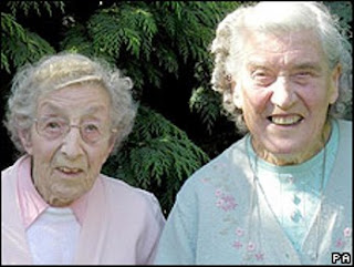 Joyce and Sybil Burden, 95 and 87