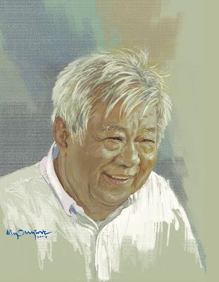 >Artist Myo Myint – Saya Gyan (Poet Tin Moe)