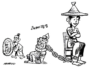 >Cartoon Saw Ngo – Dictators are not Martyrs