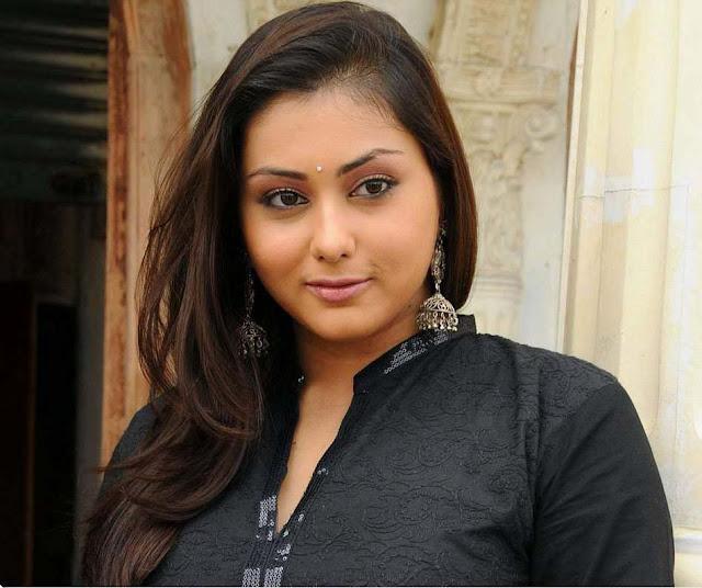 namitha in black dress