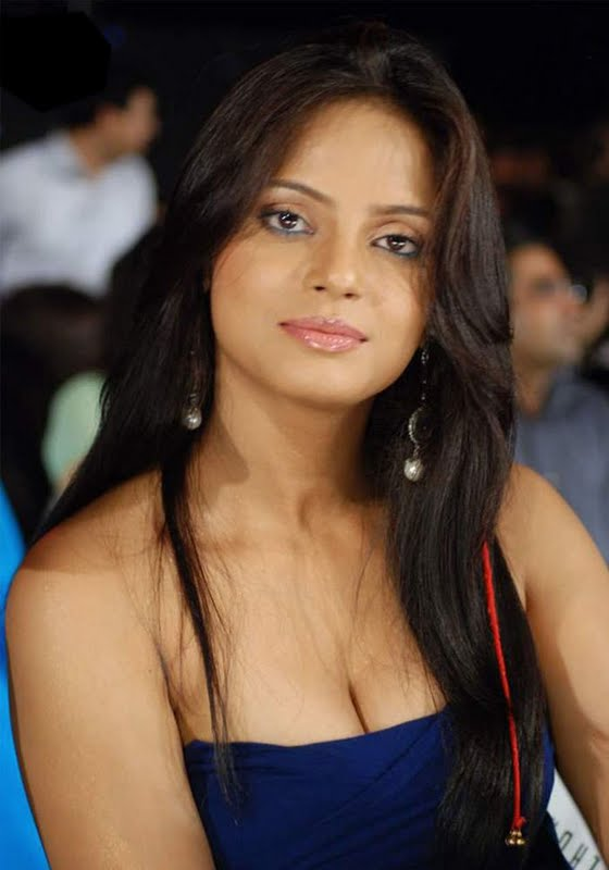 neetu chandra hot stills blue dress