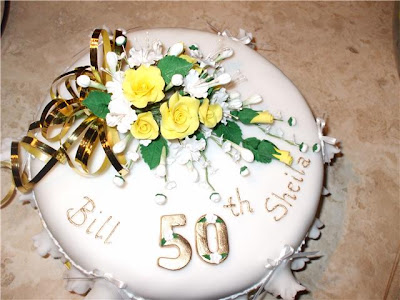 Bill and Sheila had this cake made for their 50th Wedding Anniversary