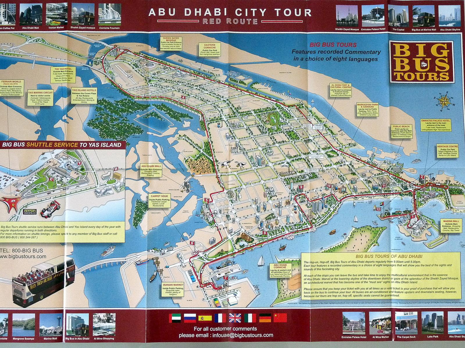 Abu Dhabi Maceramız - Bus map abu dhabi