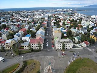 Bird's Eye View of Reykjavík City