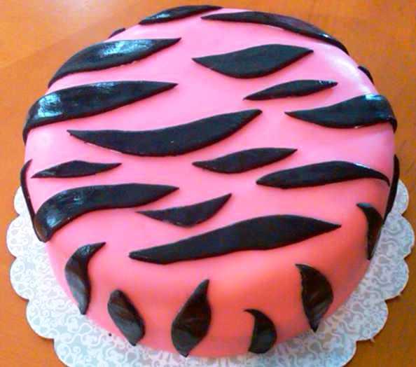 Animal print cake Zebra Print