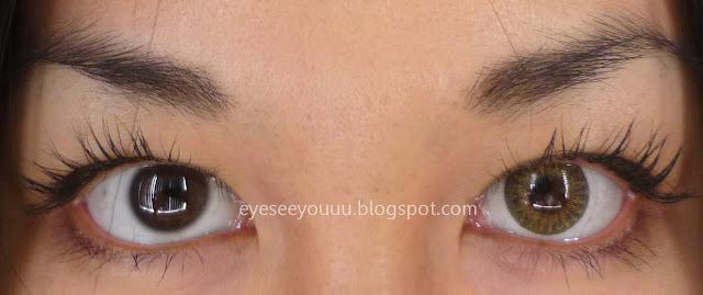 My Left Eye With Lnnovision Tri Color Hazel In   FLASH