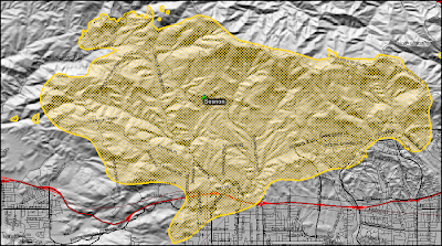 Sesnon Fire perimeter map as of 10-16-08. Click to view more...