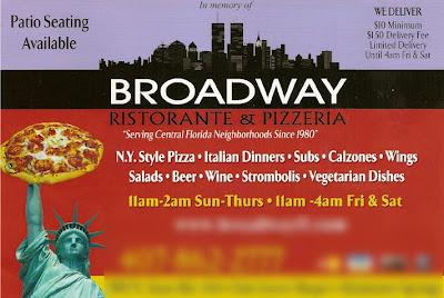 Lady Liberty says eat at Broadway