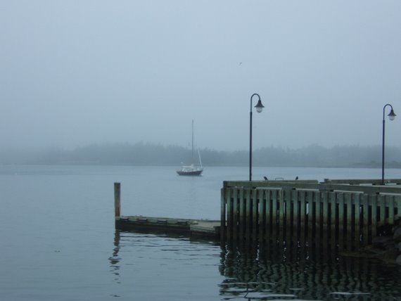 Yarmouth - misty waterfront