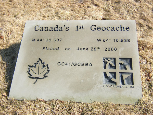 stumbled upon... geocache marker - graves island