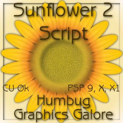 http://humbuggraphicsgalore.blogspot.com/2009/06/sunflower-2-script.html