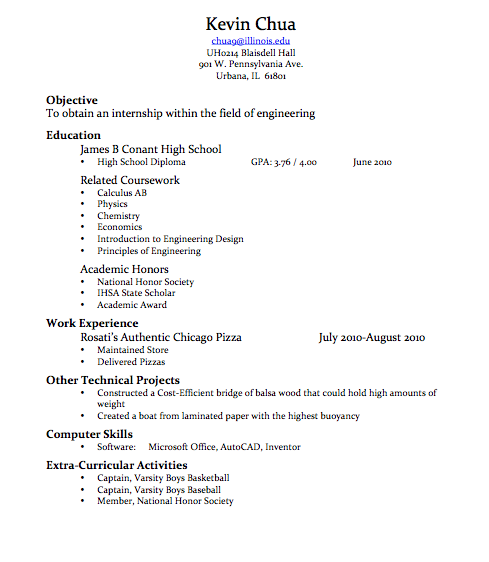 Great resume drafts