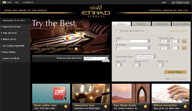 www.EtihadAirways.com - Etihad Airlines Booking - Etihad Online Booking