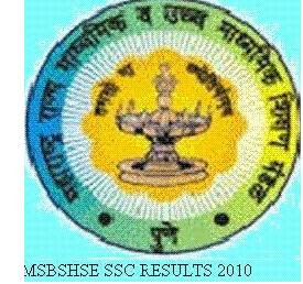 Maharashtra SSC 10th results 2010 (MSBSHSE) on mahresult.nic
