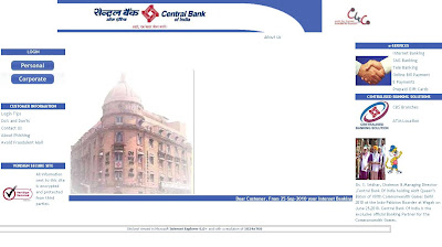 Login to Central Bank of India Net Banking website www.centralbank.net.in to manage account online. Apply online by downloading application form and access online services.