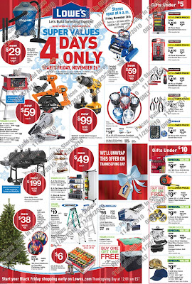 Lowe's Black Friday 2010 Deals & Offers