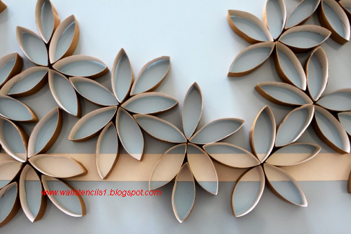 Flower Stencil Wall Art