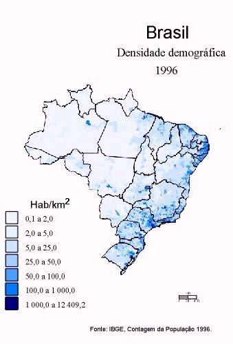 BRASIL - DENSIDADE DEMOGRÁFICA