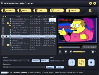AVCWare BlackBerry Video Converter 2.0.1.0109
