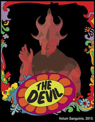 Psychedelic Devil Tarot Card