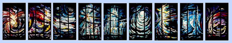 Vidrieras de la Iglesia Jesús Maestro de Roma