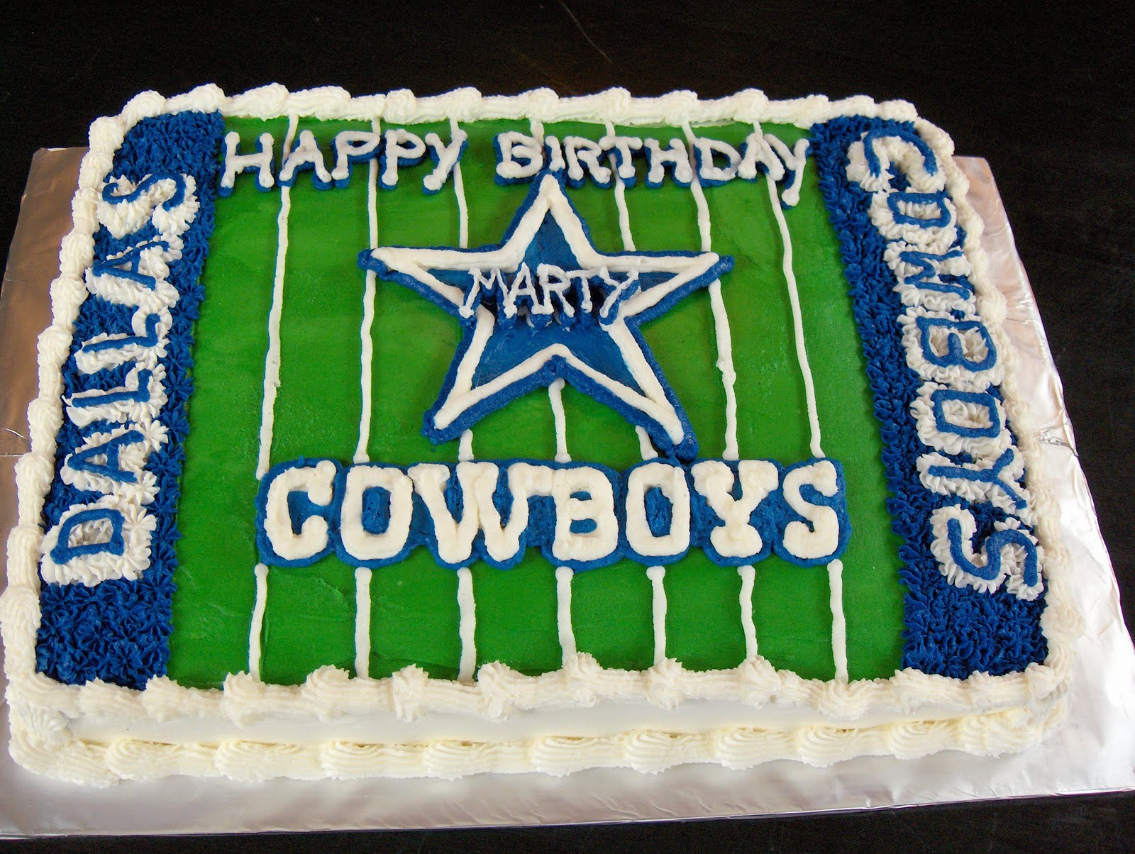 Cats Cake Creations Dallas Cowboys Birthday Cake