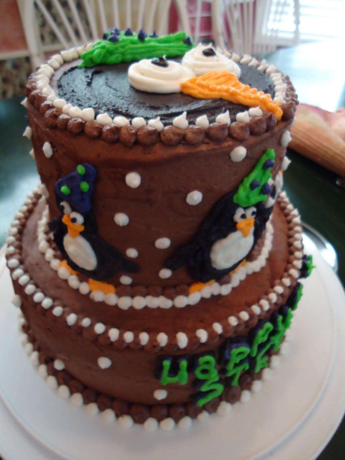 Cats Cake Creations Penguin Birthday Cake