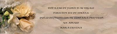 REGALO DE MARIA CRISTINA