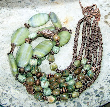 Aventurine copper necklace JW.Style