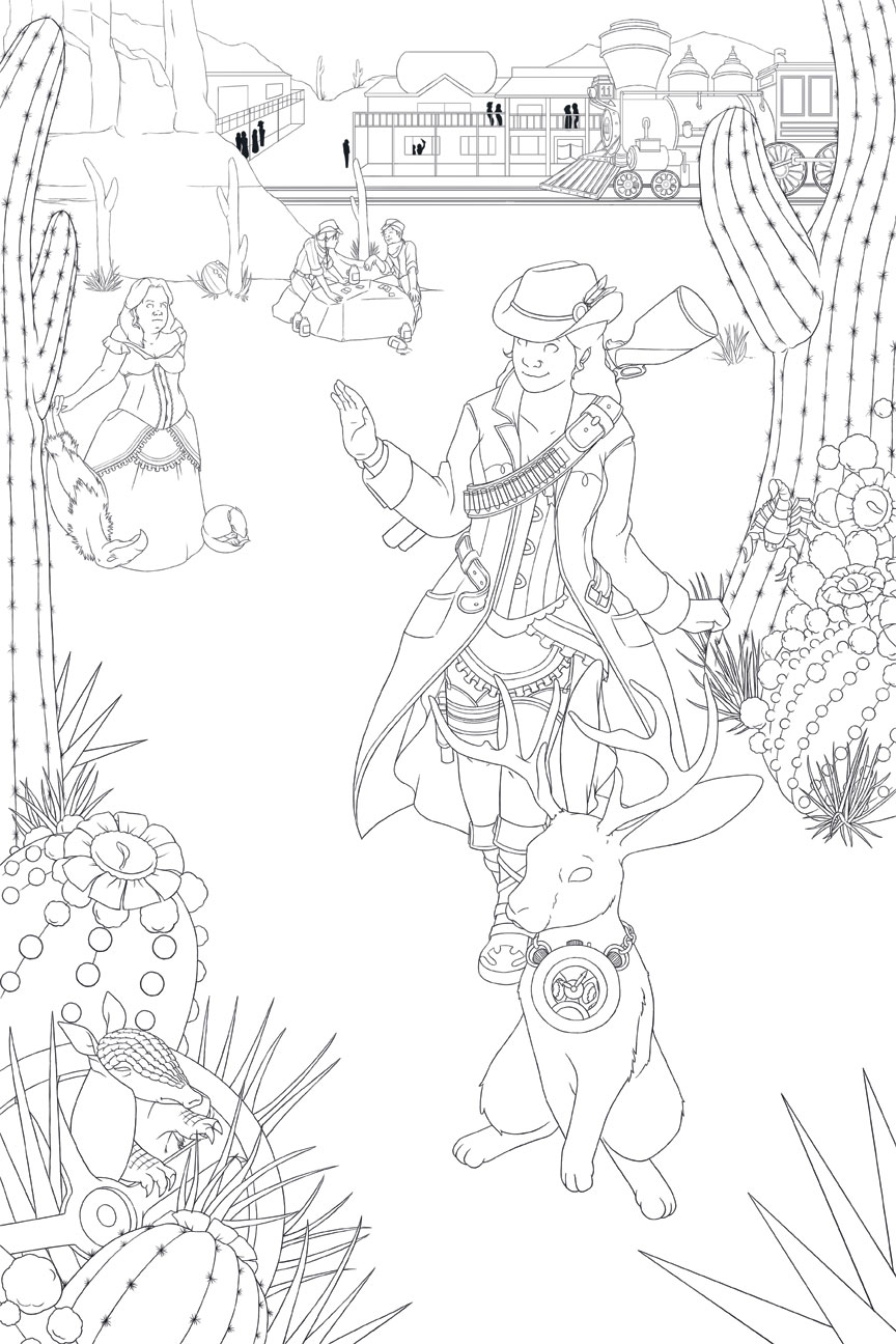 Wild wild west coloring pages